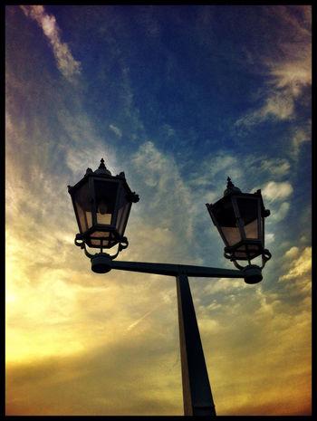 Sunset Skyporn Sunset Silhouettes Dresden - Barock Statt Beton