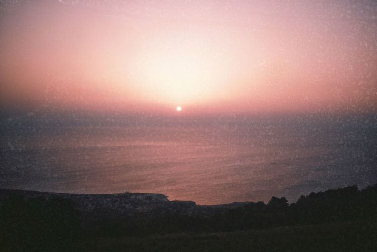 Sicily Italy 35mm Film Sun Sunset Beauty In Nature Nature Scenics Tranquility Tranquil Scene Landscape Silhouette Sunlight Scenery Sky Outdoors