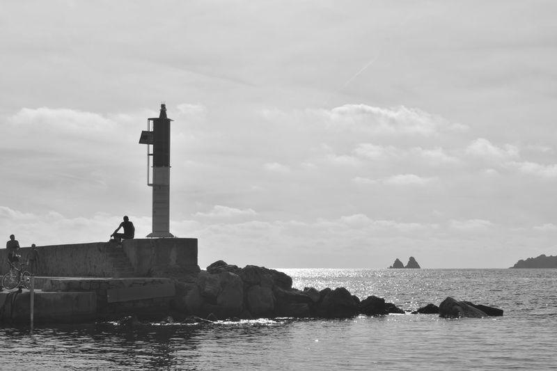 Landscape Bnw Monochrome Silhouette Water Sea Lighthouse