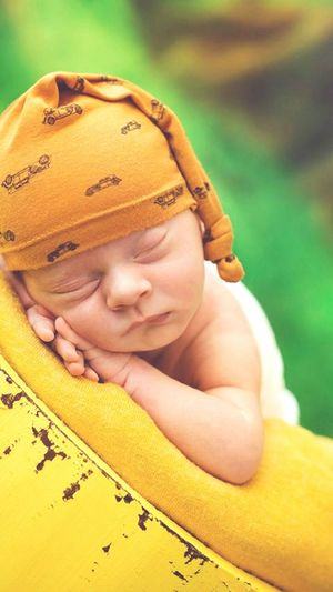 EyeEm Selects Childhood Portrait Yellow Cute Baby Boys Close-up Sleeping