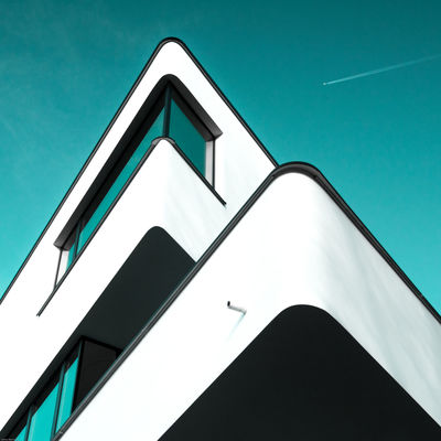 Revisit 005 Architectural Detail Architecture Building Exterior Built Structure Day Low Angle View Minimalism Minimalist Architecture Modern No People Outdoors Sky Urban Geometry Minimalz The Architect - 2017 EyeEm Awards The Graphic City Colour Your Horizn