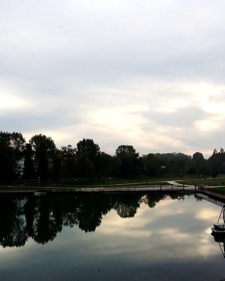 Reflection Lake Beauty In Nature Sky Ponteditiberio Riminicentro Italy❤️
