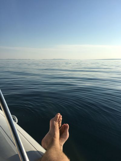 EyeEm Selects Human Body Part Water barefoot Body Part Sea Sky One Person Relaxation Human Foot Outdoors Lifestyles