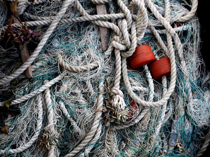 Full frame shot of fishing net