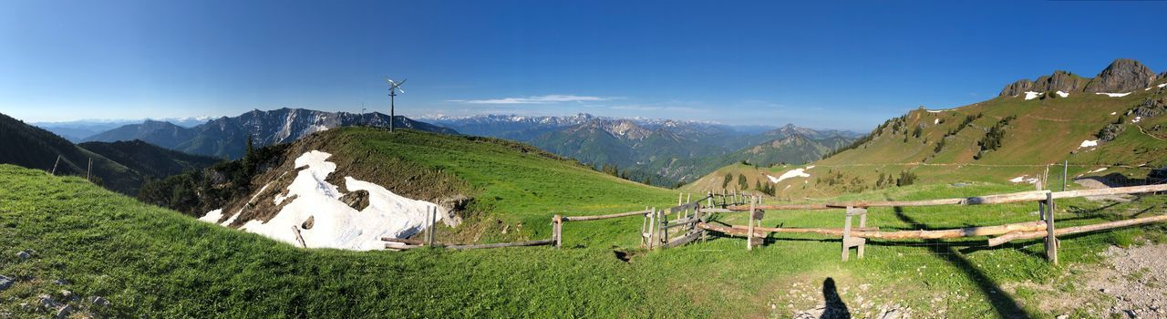 Berge Landschaft Natur Bayern Mountain Scenics - Nature Beauty In Nature Tranquil Scene Plant Green Color Sky Tranquility Mountain Range Landscape Environment Nature Growth Day Land Idyllic No People Non-urban Scene Field Tree Panoramic Grass Nature Rural Scene Fence Beauty In Nature