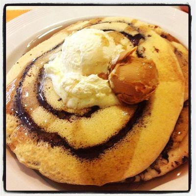 Craving for chocolate marble pancake!!! ??Pancakehouse