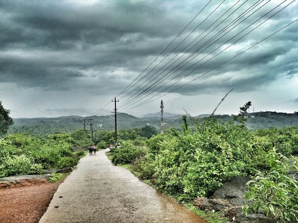 to infinity and beyond Gokarnadiaries Thunderstorm Storm Cloud Rural Scene Electricity  Bird Sky Cloudscape