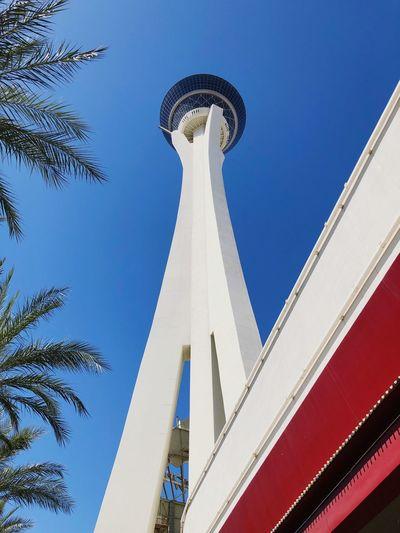 Stratosphere Strathosphere Las Vegas Built Structure Sky Building Exterior Day Tower Sunlight Tourism