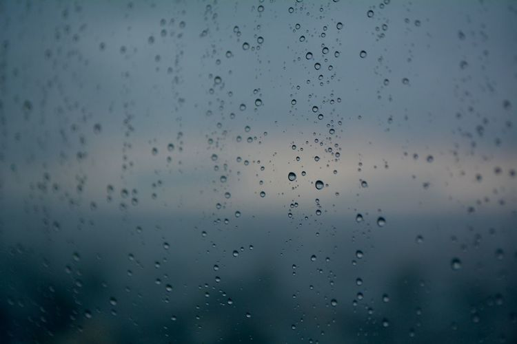 Drop Wet Water Rain Transparent Window Glass - Material Full Frame Backgrounds No People Sky Rainy Season RainDrop Close-up Nature Indoors  Day Monsoon Glass Raindrops On My Window RainDrop Wallpaper Wallpaper Background Droplets Wallpapers