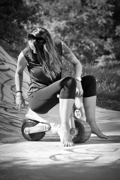 Black & White Black Black And White Blackandwhite Blackandwhite Photography Casual Clothing Crouching Day Focus On Foreground Full Length Girls Hair Hairstyle Leisure Activity Lifestyles Long Hair Nature One Person Real People Shoe Sitting Women Young Adult EyeEmNewHere The Portraitist - 2018 EyeEm Awards The Creative - 2018 EyeEm Awards The Photojournalist - 2018 EyeEm Awards
