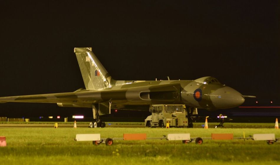 Avro Vulcan Vulcan Xh558 in the Night at Robin Hood Airport. Air Vehicle Military Grass Airplane No People Antique Business Finance And Industry Aerospace Industry Fighter Plane Outdoors Air Force Nikonphotographer Nikonphotography Illuminated Aviationphotography Aviation Cockpit Black Background Flying DSA Airport Runway