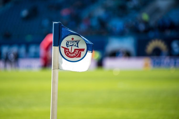 Hansa Eckfahne Sports Team Flag Fussball 3liga Liga3 Dritteliga Soccer Hansarostock Hansa Focus On Foreground Communication Sign Grass Text No People Day