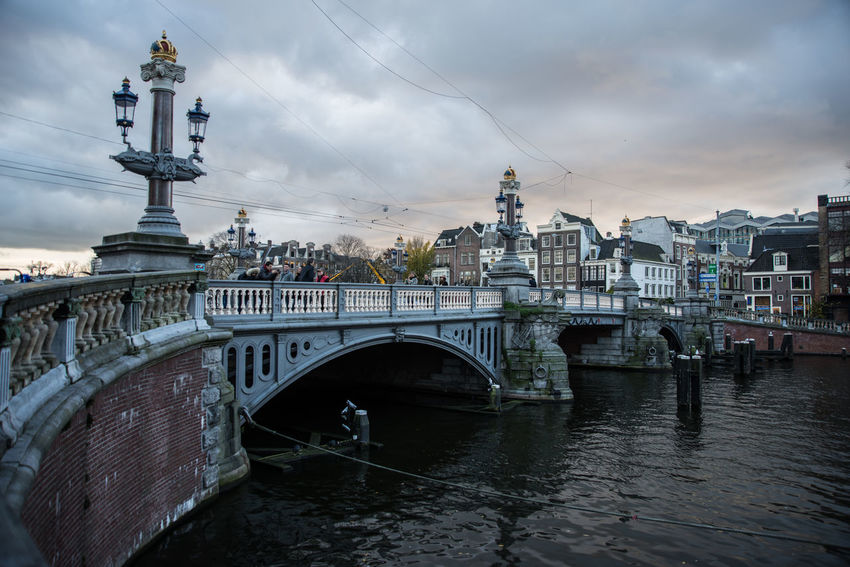 Amsterdam Autumn Cityscape Arch Architecture Bridge - Man Made Structure Built Structure Canal City Cloud - Sky Connection Day Evening Nature No People Outdoors River Sky Twighlight Water