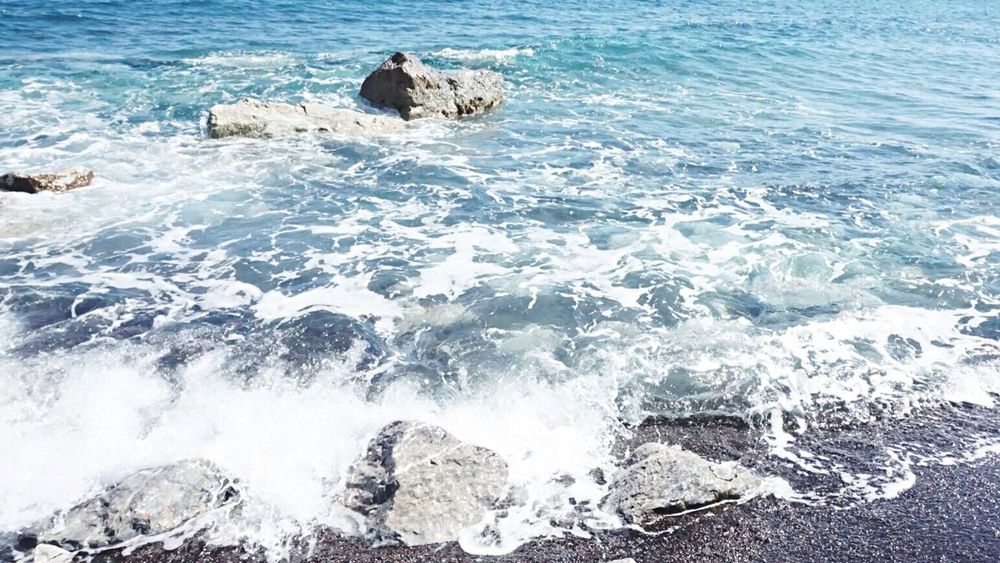 Perissa Greece Beach Blue OceanWaves Ocean