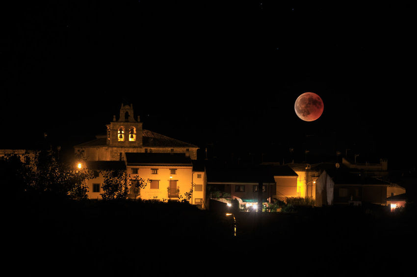 Architecture Building Exterior Built Structure Eclipse Enjoying Life Full Moon Illuminated Moon Night No People Outdoors Sky