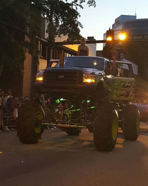 4 x 4 tall 4 X 4 Truck Parade Vehicles Green And Black DeSoto Grand Parade Bradenton FL Redneck Florida Life