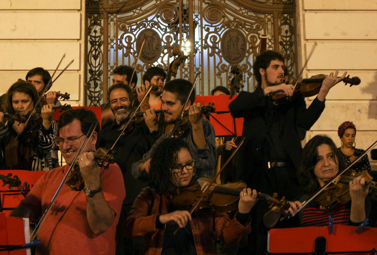 Musical Protest - Fora Temer Arts Culture And Entertainment Brazil Fightforyourrights Foratemer Group Of People Guitar Justice March Music Musical Instrument Musician People Performance Performance Group Performing Arts Event Playing Protest Violin Violinist
