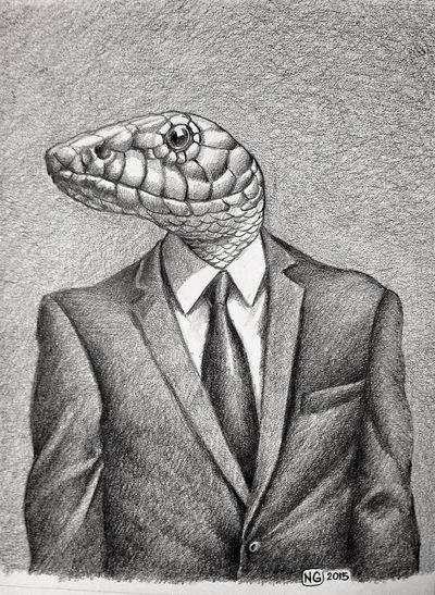@NG2015 Art, Drawing, Creativity My Drowing Mr. Snake