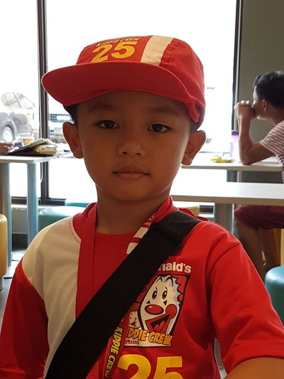 McDonald's Kiddie Crew Mcdonalds EyeEmNewHere EyeEmReady EyeEm Selects Asian  Boy Kids Portrait Filipino Training Cebu Child Children Only Childhood Archival Boys One Boy Only One Person Looking At Camera Elementary Age