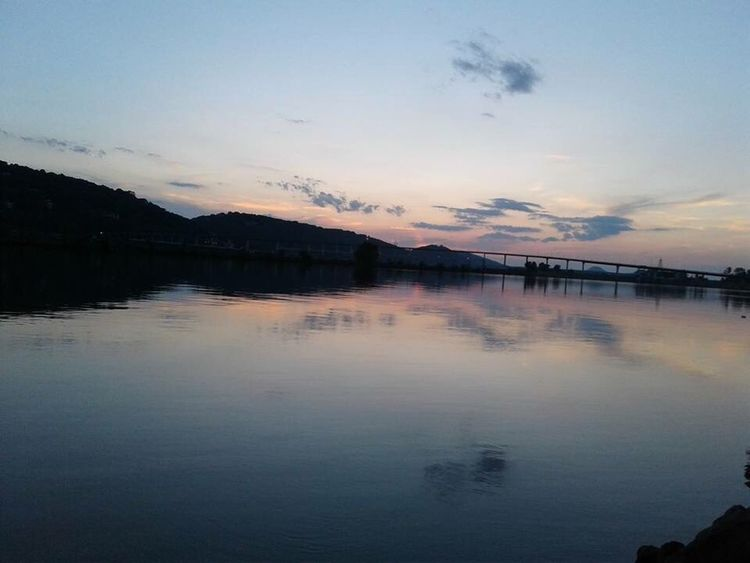 The Week On EyeEm Cooks Landing Arkansas River Sunset Reflection Water Scenics Nature Beauty In Nature Sky Tranquil Scene Tranquility Lake Outdoors No People Mountain Day North Little Rock