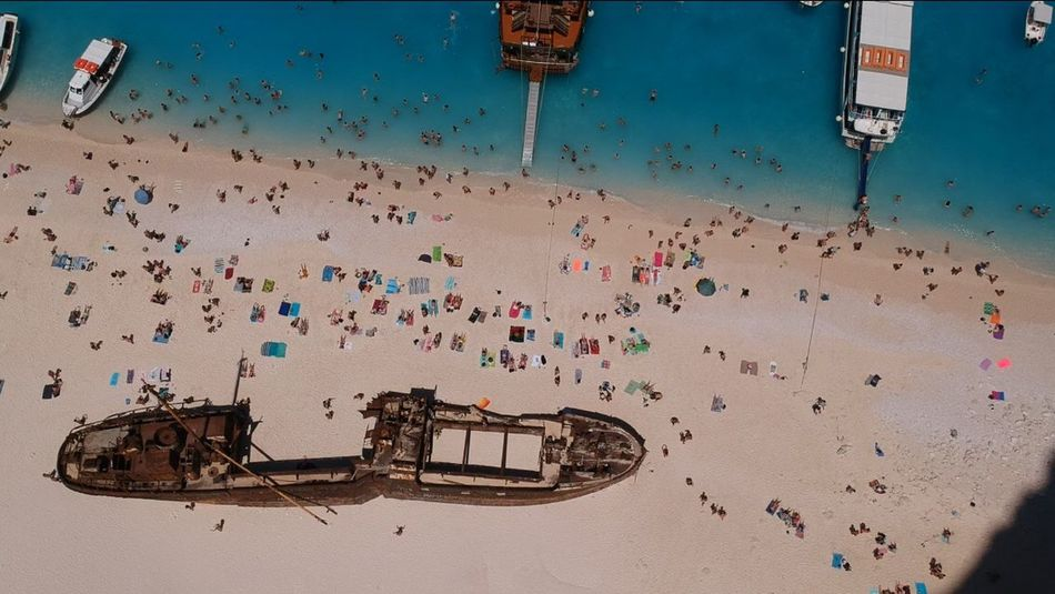 Nautical Vessel Drone  Water Naufragio