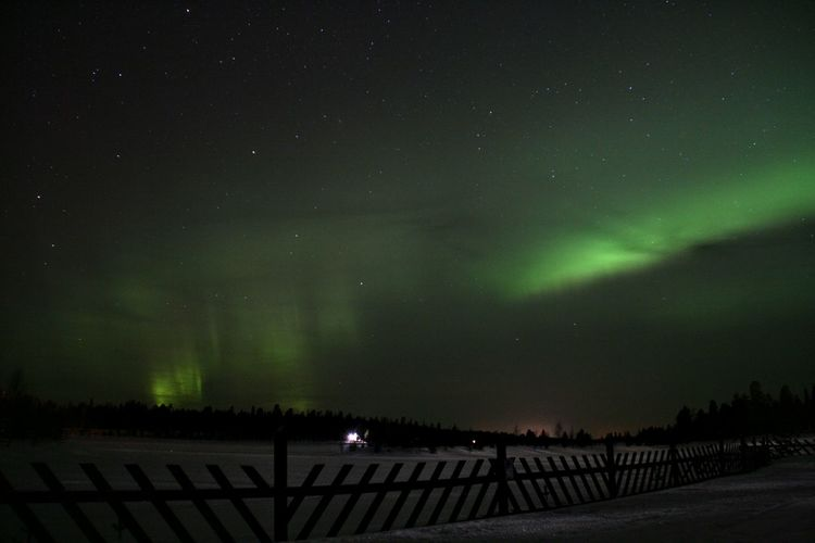Night Outdoors Beauty In Nature Northern Lights Finland