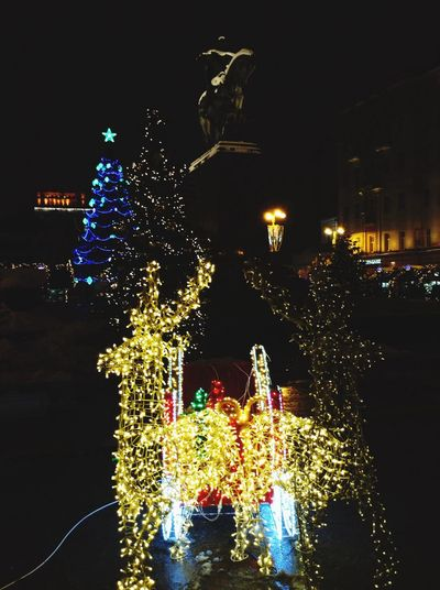 Festive Season Christmas mood in Moscow! Moscow Winter Christmas Christmas Lights Christmastree NewYear