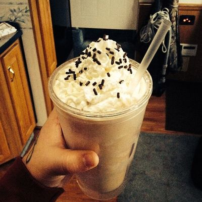 Made my own frappe! ? Yumm Coffee Lovee Frappe sogood