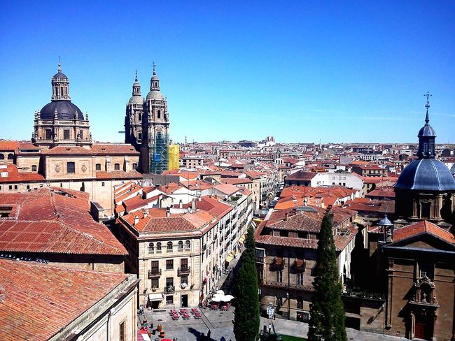 Salamanca, Spain Architecture Building Exterior Built Structure Religion Spirituality City Travel Destinations Clear Sky Day Cityscape Vacations Architecture Cultures History Arts Culture And Entertainment