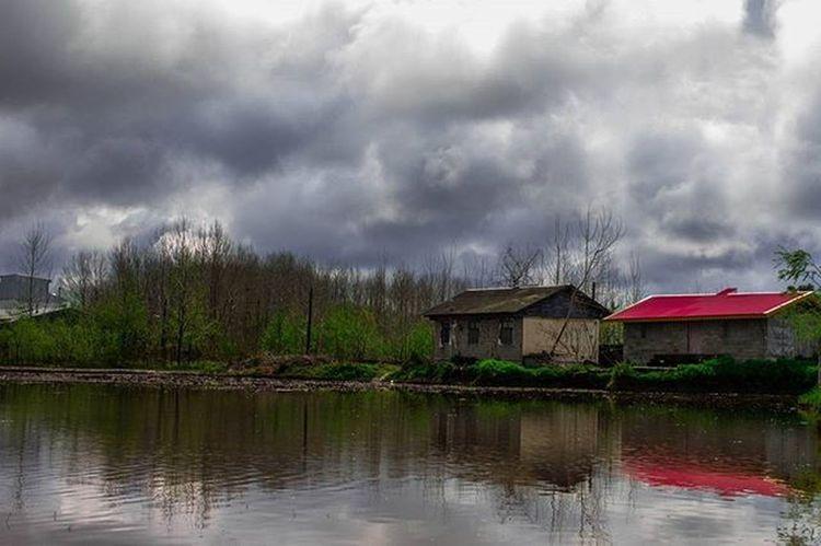 Gilan Rasht Iran Nature Green Cloudy Reflection 700D RainyDay Travel Travelingram