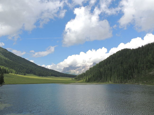 Beauty In Nature Cloud - Sky Day Lago Di Calaita Lake Landscape Mountain Nature No People Outdoors Scenics Sky Tranquil Scene Tranquility Tree Water