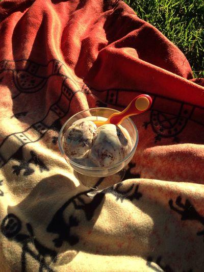 evening ice cream with my daughter at the park Enjoying Life Summer Käpylä Helsinki