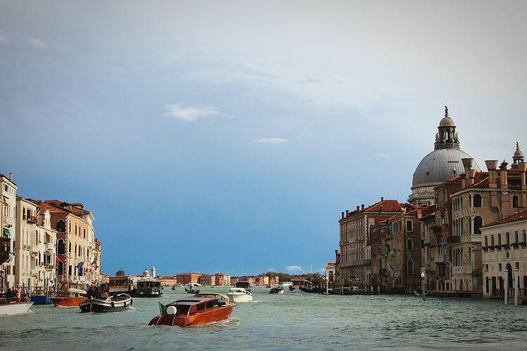 Building Exterior Architecture Travel Destinations Water Cityscape City Sea Venice Punta Dogana Canal Grande Sea Point Of View