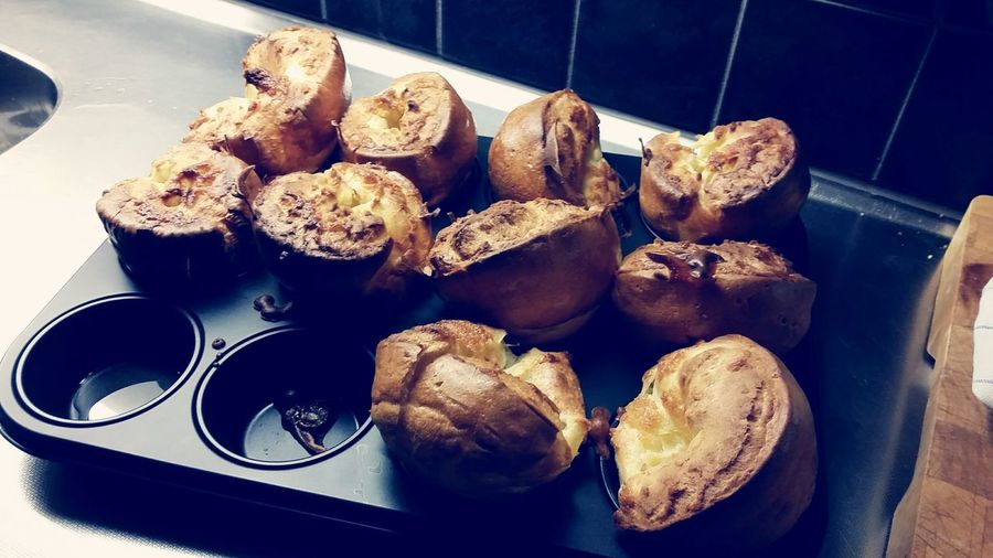 Homemade Yorkshire puddings Food Food And Drink Freshness Indoors  Large Group Of Objects Abundance Close-up Ready-to-eat Temptation Homemade In A Row Tray Indulgence Appetizer Heap Collection Homemade Yorkshire Puddings