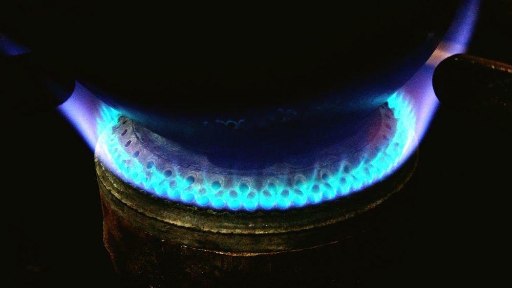 Blue Flame Black Background Burning