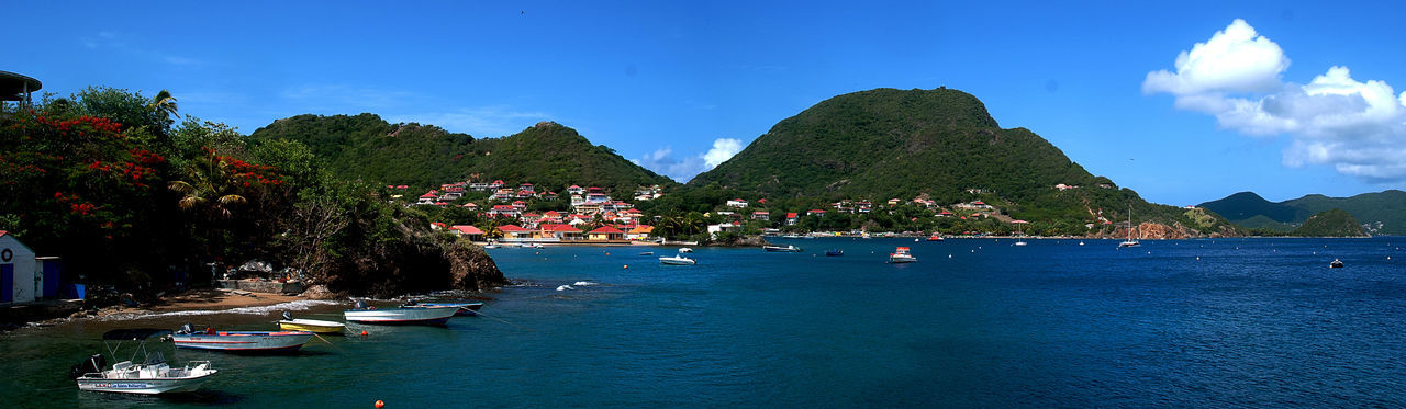 Guadeloupe Les Saintes Marie De La Mer Beauty In Nature Blue French Island Nature Panoramic Landscape Peaceful Place Scenics Sea Travel Destinations