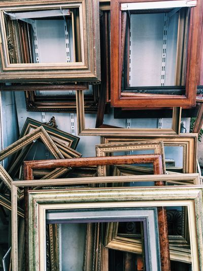 Picture frames at store