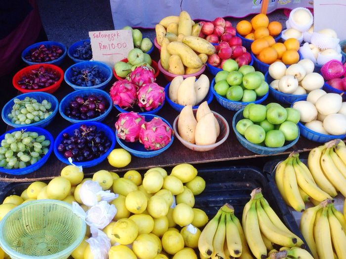 Fruits Variation Choice Banana Retail  Fruit For Sale Food Market Food And Drink Market Stall Large Group Of Objects Vegetable Healthy Eating Freshness Multi Colored Abundance Apple - Fruit Day No People Price Tag