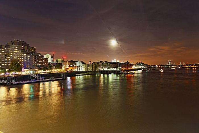 Moonshine over London from Tower Bridge by Kadeen's Media Canon Photography Canon Photographer Canonphotographer Cities At Night DelayedShutter Londonatnight Tower Bridge  London Canon Landscape Nightscape London Night London Nights River Thames Imagine Create Behold KadeensMedia Landscapephotographer Fullframe ImagineCreateBehold Kadeens Media Welcomeweekly The EyeEm Collection The Eyeem Collection At Getty Images