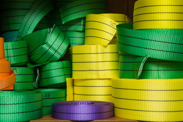 Full frame shot of multi colored noose