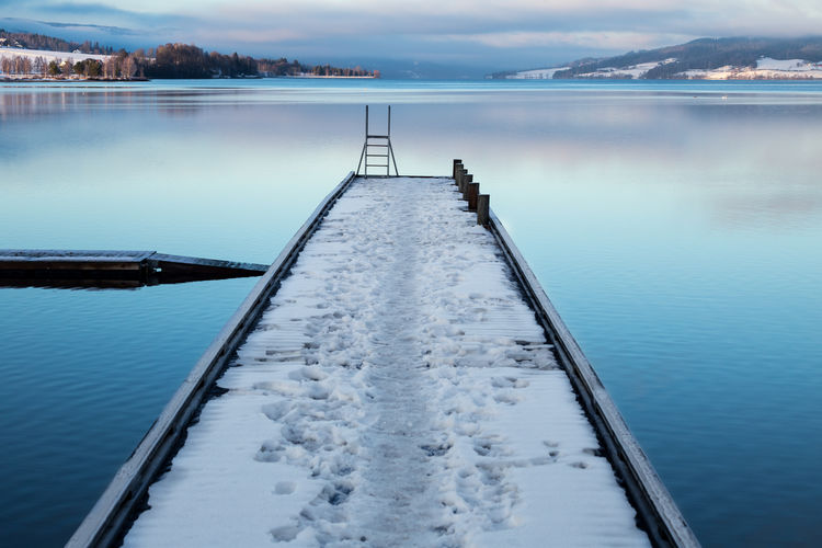 Water Nature Tranquility Reflection Tranquil Scene Winter Lake Cold Temperature Snow Deck Water Reflections Norway Hadeland