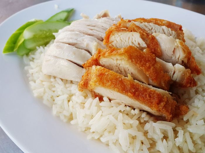 Hainanese chicken rice Food And Drink Food Close-up Kaomangai Streetfood Streetfood Thailand Victory Monument Rangnamroad