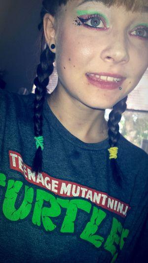 Ima ninja turtle. Lol jk ✌ Ninja Turtles Makeup Makepstars Stars