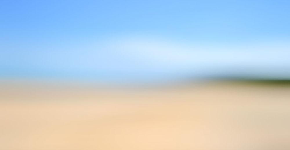 Defocused image of field against clear blue sky