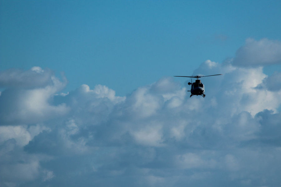 Helicopter Helicopter Shot Helicopter 🚁 Helo Sky And Clouds Air Vehicle Cloud - Sky Day Flying Helicopter Helicopter Photography Low Angle View Mid-air Mode Of Transport Nature Outdoors Real People Sky Transportation