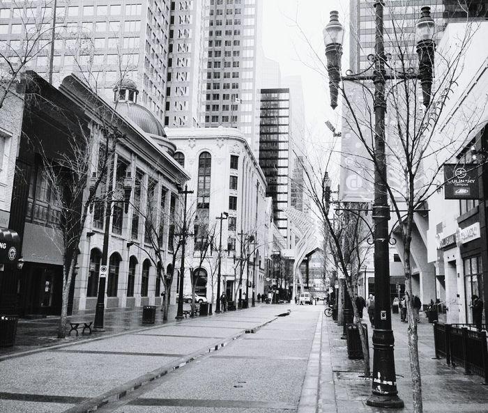 YYC Downtown StephenAvenue City Life Blackandwhite Calle Picoftheday Buildings Canada