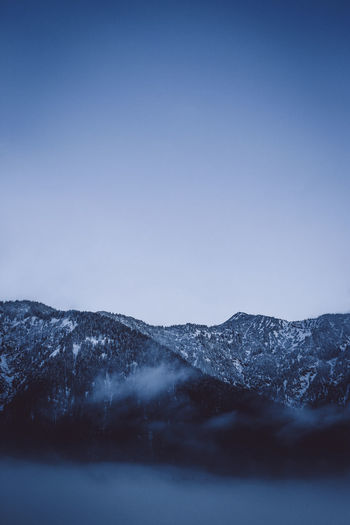 lanscape of mountains blue Beauty In Nature Blue Clear Sky Cold Temperature Day Landscape Mountain Mountain Range Nature No People Outdoors Scenics Sky Snow Tranquil Scene Tranquility Winter