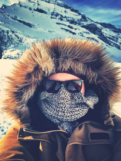High One Person Portrait Real People Lifestyles Leisure Activity Headshot Winter Cold Temperature Sunglasses Snow Warm Clothing Clothing Fashion First Eyeem Photo Nude_model