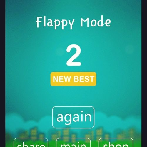 WhiteTiles4 FlappyMode this time I tied with @2002_baby_2001