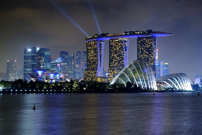 Marina Bay Sands Laser Show At Night